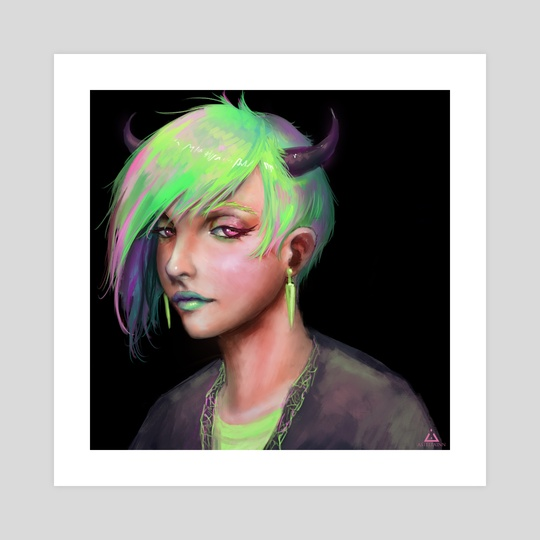 Green punk by Anastasia Su