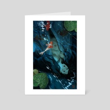 Koi - Art Card by Miroslaw Urbaniak