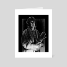 Log Lady - Twin Peaks - Art Card by John Dervishi