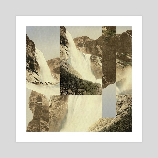 Digital Collage 02 - Waterfall by Sam Sheridan