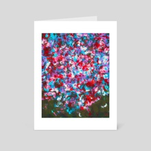 Abstract Painting - Raindrops on the Window - Art Card by Bridget Garofalo