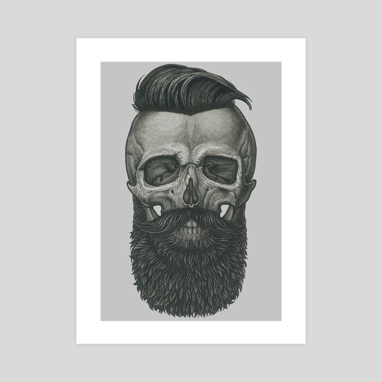 Bearded Skull by Vadim Zhulanov
