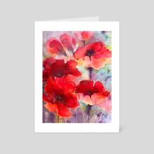 Abstract poppies - Art Card by Alessandro Andreuccetti