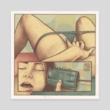 Hello? - Canvas by Ariel Hayat
