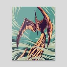 Pteranodon - Acrylic by Matt Kehler