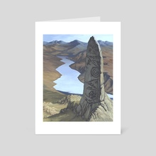 The Standing Stone - Art Card by Candra Hope