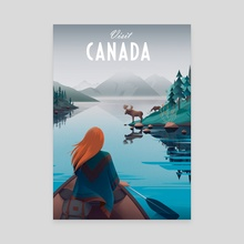 Visit Canada - Canvas by Anna Kuptsova