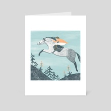 Spring Riding - Art Card by Angela Keoghan