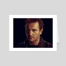 Liam Neeson Low-Poly - Art Card by Micah Denn