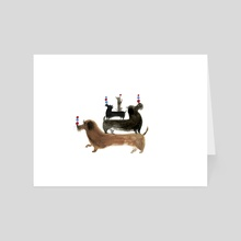 Long Dogs - Art Card by Sarah Jacoby