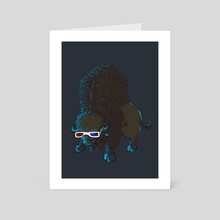 Bison - Art Card by Vó Maria
