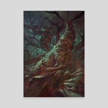 ''Sick hat, Bro,'' said the man in a tree - Canvas by Peter (Apterus) Polach