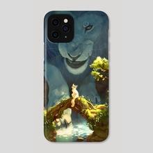 Blue Lion - Phone Case by Blayne Fox