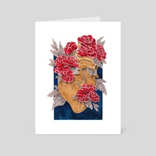 Heart of gold and roses - Art Card by laviride