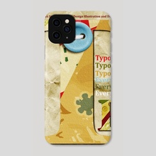 Typography 20 - Phone Case by Michal Eyal