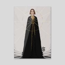 Natalie - Acrylic by Lola Rodriguez
