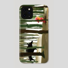 A wolf in the way - Phone Case by Rodrigo Abrahim