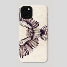 Wingspan Owl - Phone Case by Sara Blake