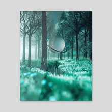 Blossom - Acrylic by Sidharth Gupta