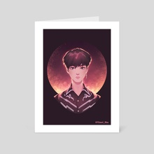 BTS FAKE LOVE_Jin - Art Card by Yimei Zhu