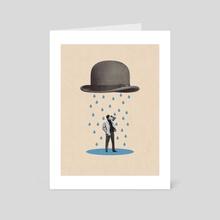Rainy - Art Card by LennyCollageArt