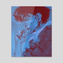 Spike Spiegel  - Acrylic by F A