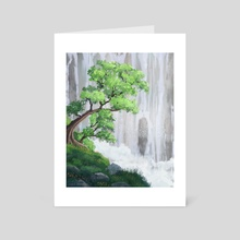 Tree in the Clouds - Art Card by Trey Tallent