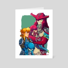 Link and Sidon - Art Card by RV Star