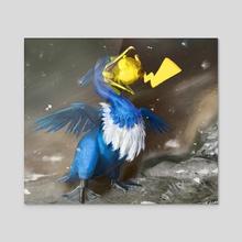 Pokemon: Cramorant - Acrylic by Lindsey Wakefield
