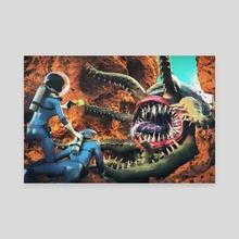 Ambush on Xolotl - Canvas by Gregory Stoffel