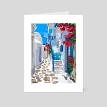 Santorini - Art Card by ashireei