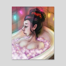 After-Party Bathtub Moment - Acrylic by Patricia Pedroso