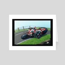 William Dunlop 2013 Isle of Man TT - Art Card by Rich Lee