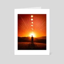 LUNAR SUNSET  - Art Card by Abraham  Yael