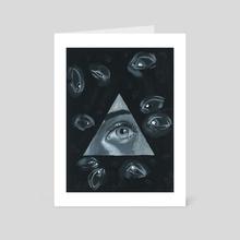 Paranoia - Art Card by Dovenart