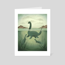 Nessie - Art Card by Vanessa Stephens