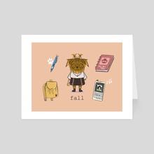 Fashion Icon on Peach - Art Card by Jorgelis Ortegano