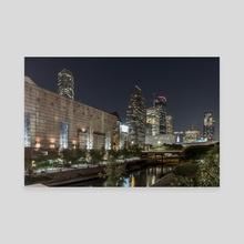 Houston Skyline and Buffalo Bayou - Canvas by Brandon Fincher