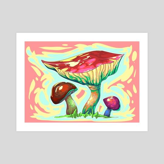 Mashroom. Colorful style. by Viktor Nikonenko