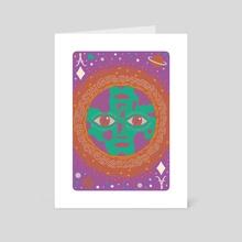 Ace of Diamonds / The World - Art Card by Caitlin Keegan
