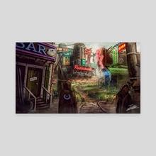 Cyberpunk Desert - Canvas by Jerico Cinco