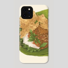Nasi Pecel - Phone Case by Fajar Kurniawan