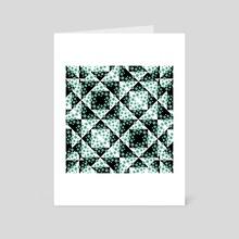 Ditsy Check Geometric Print Pattern - Art Card by Daniel Ferreira Leites