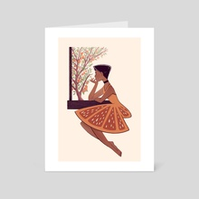 Orange - Art Card by Nimali