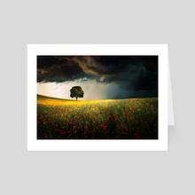 Summer Field - Art Card by BaxiaArt