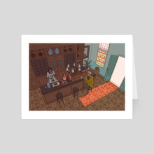 Medicine Shop - Art Card by Amelia Quek