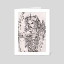 Goddess Artemis - Art Card by Liisa Berezkin