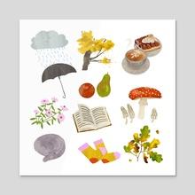 October - Acrylic by Lara Paulussen
