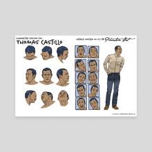 Thomas Castillo character design - Canvas by Wendi Strang-Frost