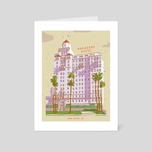 Breakers Hotel, Long Beach, CA - Art Card by Jordan Lance